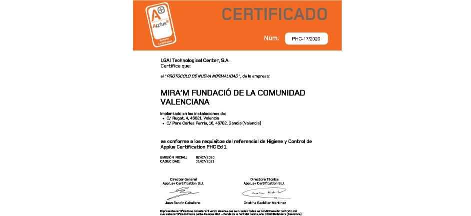 Miram_Certificado_Protocolo_Higiene_Control_Applus